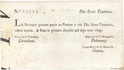 10 Livres Tournois typographié FRANCE  1720 Dor.20 TTB