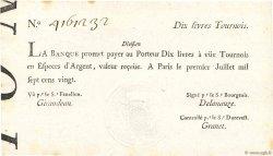 10 Livres Tournois typographié FRANCE  1720 Dor.22b SUP