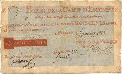 300 Livres FRANCE  1783 Laf.101