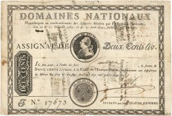 200 Livres sans coupons FRANCE  1790 Ass.01b TB