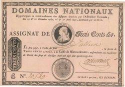 300 Livres sans coupons FRANCE  1790 Ass.02b TTB