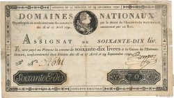 70 Livres FRANCE  1790 Ass.06a F