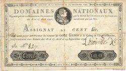 100 Livres FRANCE  1790 Ass.09a TB