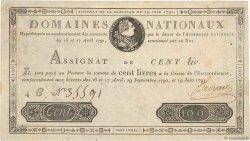 100 Livres FRANCE  1791 Ass.15a TTB