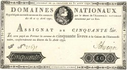 50 Livres FRANCE  1792 Ass.32a SUP
