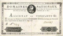 50 Livres FRANCE  1792 Ass.32a TTB
