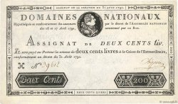 200 Livres FRANCE  1792 Ass.33a TTB+