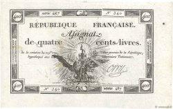 400 Livres FRANCE  1792 Ass.38a TTB