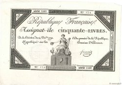 50 Livres FRANCE  1792 Ass.39a SUP