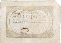 500 Livres FRANCE  1796 Ass.47v SUP