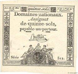 15 Sols FRANCE  1793 Ass.41v SPL