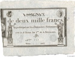 2000 Francs FRANCE  1795 Ass.51a SPL