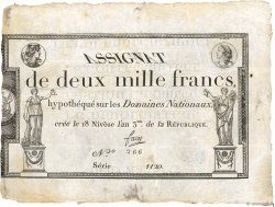 2000 Francs FRANCE  1795 Ass.51a VF
