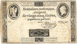 50 Livres FRANCE  1793 Kol.014 B+