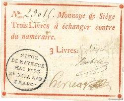3 Livres FRANCE  1793 Kol.026 TTB