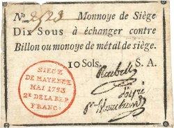 10 Sous FRANCE  1793 Kol.031 TTB