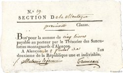 5 Livres FRANCE  1794 Kol.61.096var SUP
