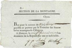 3 Livres FRANCE  1793 Kol.61.096var SUP
