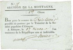 3 Livres FRANCE  1795 Kol.61.103 SUP