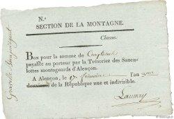 5 Livres FRANCE  1794 Kol.61.96var SUP