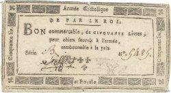 50 Livres FRANCE  1794 Kol.063 pr.TTB