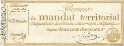 250 Francs sans série FRANCE  1796 Ass.61a SUP