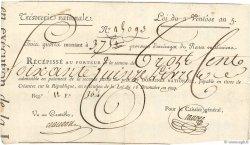 375 Livres Bon des Trois-Quarts FRANCE  1796 Laf.206 TTB