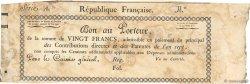 20 Francs FRANCE  1798 Laf.214a var TTB