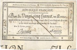 25 Francs Faux FRANCE  1799 Laf.217 VF