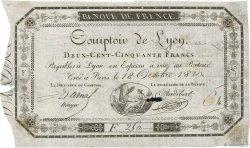 250 Francs Comptoir de Lyon FRANCE  1810 F.A07var TTB