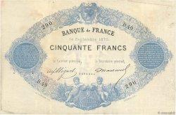 50 Francs type 1868 Indices Noirs FRANCE  1870 F.A38.04 TTB