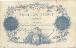 25 Francs type 1870 Paris FRANCE  1870 F.A43.01 pr.TB