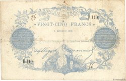 25 Francs type 1870 Clermont-Ferrand FRANCE  1870 F.A44.01 F-