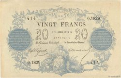 20 Francs type 1871 FRANCE  1873 F.A46.03 TTB+