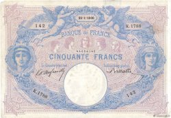 50 Francs BLEU ET ROSE FRANCE  1900 F.14.12 F-