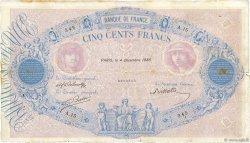 500 Francs BLEU ET ROSE FRANCE  1888 F.30.01 TB