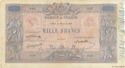 1000 Francs BLEU ET ROSE FRANCE  1891 F.36.03 VF-