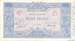 1000 Francs BLEU ET ROSE FRANCE  1920 F.36.36 TB