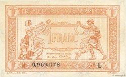 1 Franc TRÉSORERIE AUX ARMÉES FRANCE  1917 VF.03.12 SPL