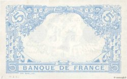 5 Francs BLEU lion inversé FRANCE  1917 F.02bis.04 SUP