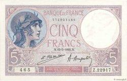 5 Francs VIOLET FRANCE  1925 F.03.09 SPL