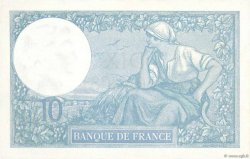 10 Francs MINERVE FRANCE  1922 F.06.06 SPL