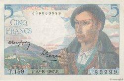 5 Francs BERGER FRANCE  1947 F.05.07a SUP