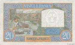 20 Francs SCIENCE ET TRAVAIL FRANCE  1941 F.12.20 pr.SUP