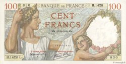 100 Francs SULLY FRANCE  1939 F.26.07 SPL