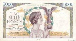 5000 Francs VICTOIRE Taille Douce FRANCE  1934 F.44.01 pr.TTB