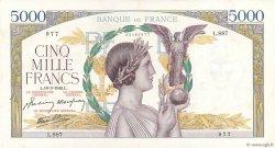 5000 Francs VICTOIRE Impression à plat FRANCE  1942 F.46.35 SUP+