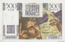 500 Francs CHATEAUBRIAND FRANCE  1952 F.34.09 XF+