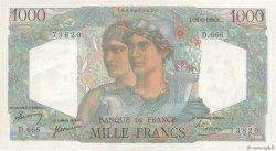 1000 Francs MINERVE ET HERCULE FRANCE  1950 F.41.33 pr.SPL