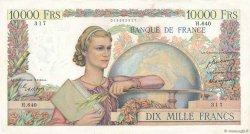10000 Francs GÉNIE FRANÇAIS FRANCE  1950 F.50.27 TTB